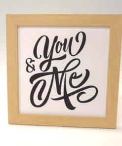 You and me Lámina