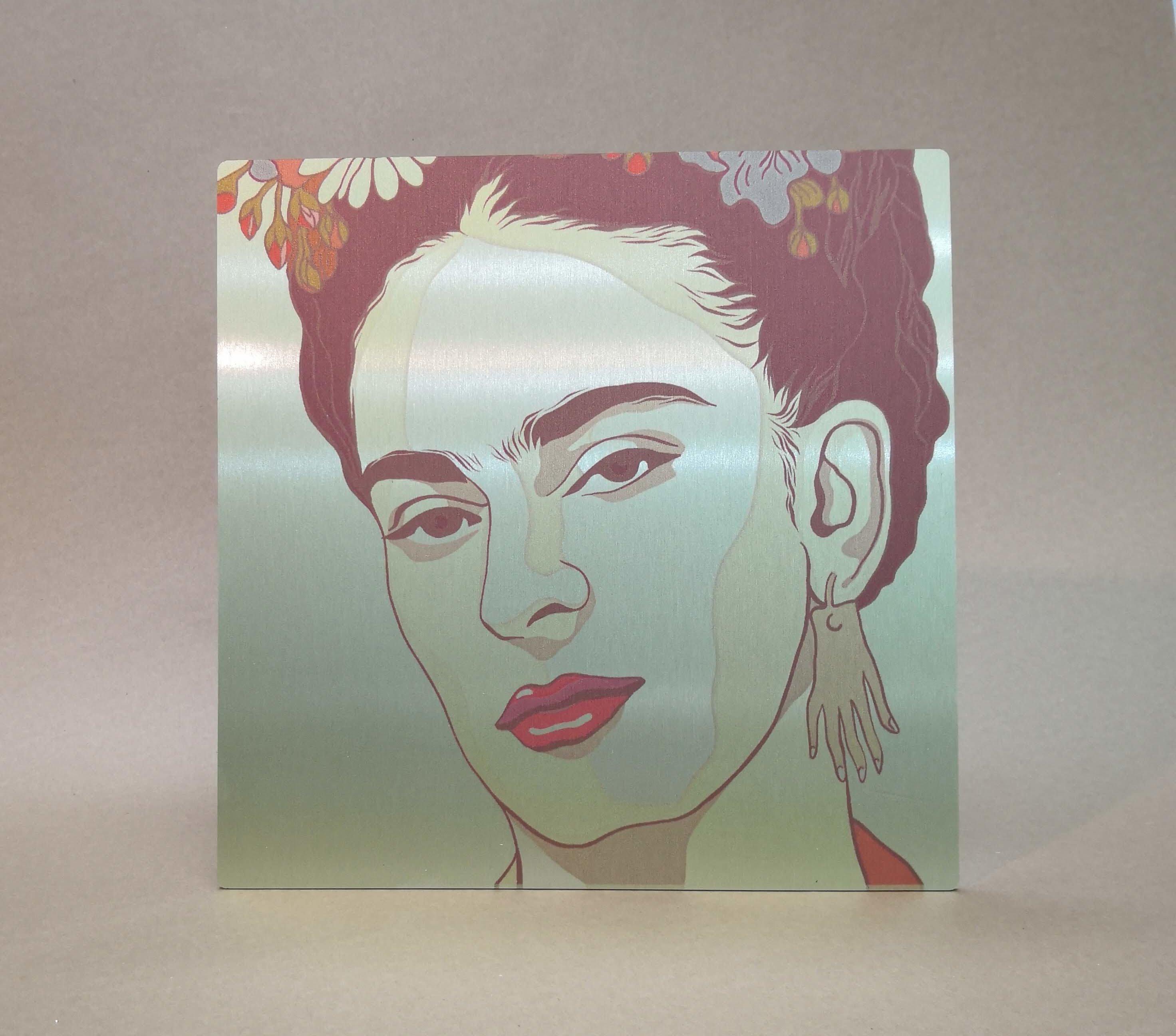 Cuadro foto en aluminio Kahlo